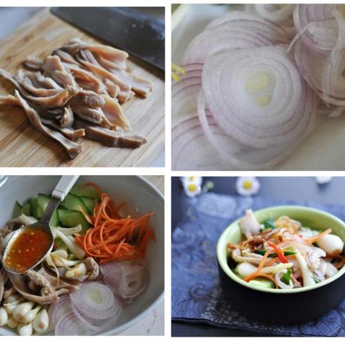 Bỏ túi công thức chế biến bao tử trộn dưa kiệu, món ăn nhẹ mà chất2