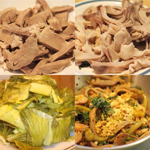 Món lưỡi heo và bao tử trộn dưa cải chua, bí quyết cho bữa cơm gia đình thêm ngon1