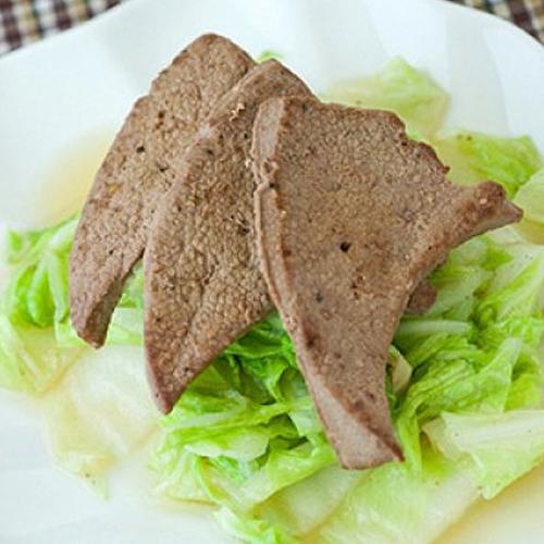 Bổ sung món gan lợn xào cải thảo vào thực đơn gia đình