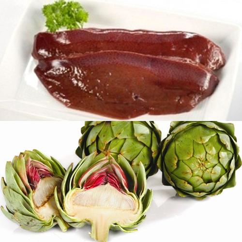 Canh gan lợn nấu atiso, món ăn tuyệt vời từ hình thức đến mùi vị